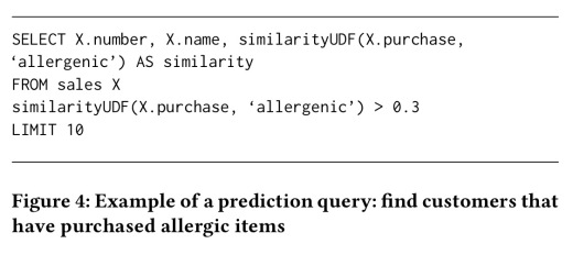 Using word embedding to enable semantic queries on relational