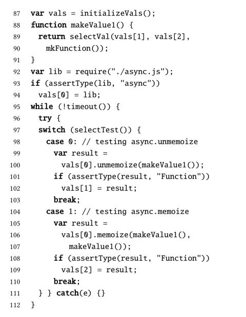 type test scripts for typescript testing the morning paper